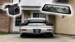 TOUCH SCREEN DASH CAM/BACKUP CAMERA FOR THE RHD RX7!! (BEST TECH MOD YET)