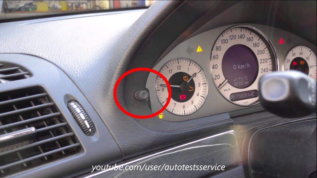 Mercedes W211 How To Fully Disengage Esp Hidden Menu