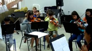 Birzeit Summer camp July 2012 orchestra