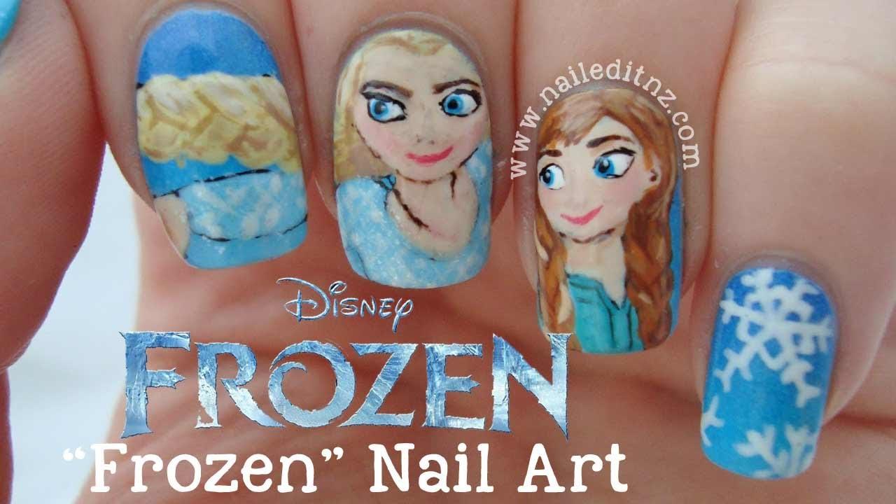 Disney Frozen Nails   Elsa