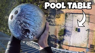 BOWLING BALL Vs. POOL TABLE from 45m!