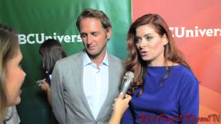 Josh Lucas & Debra Messing of The Mysteries of Laura at NBCUniversal's 2014 Summer TCA Tour #TCA14