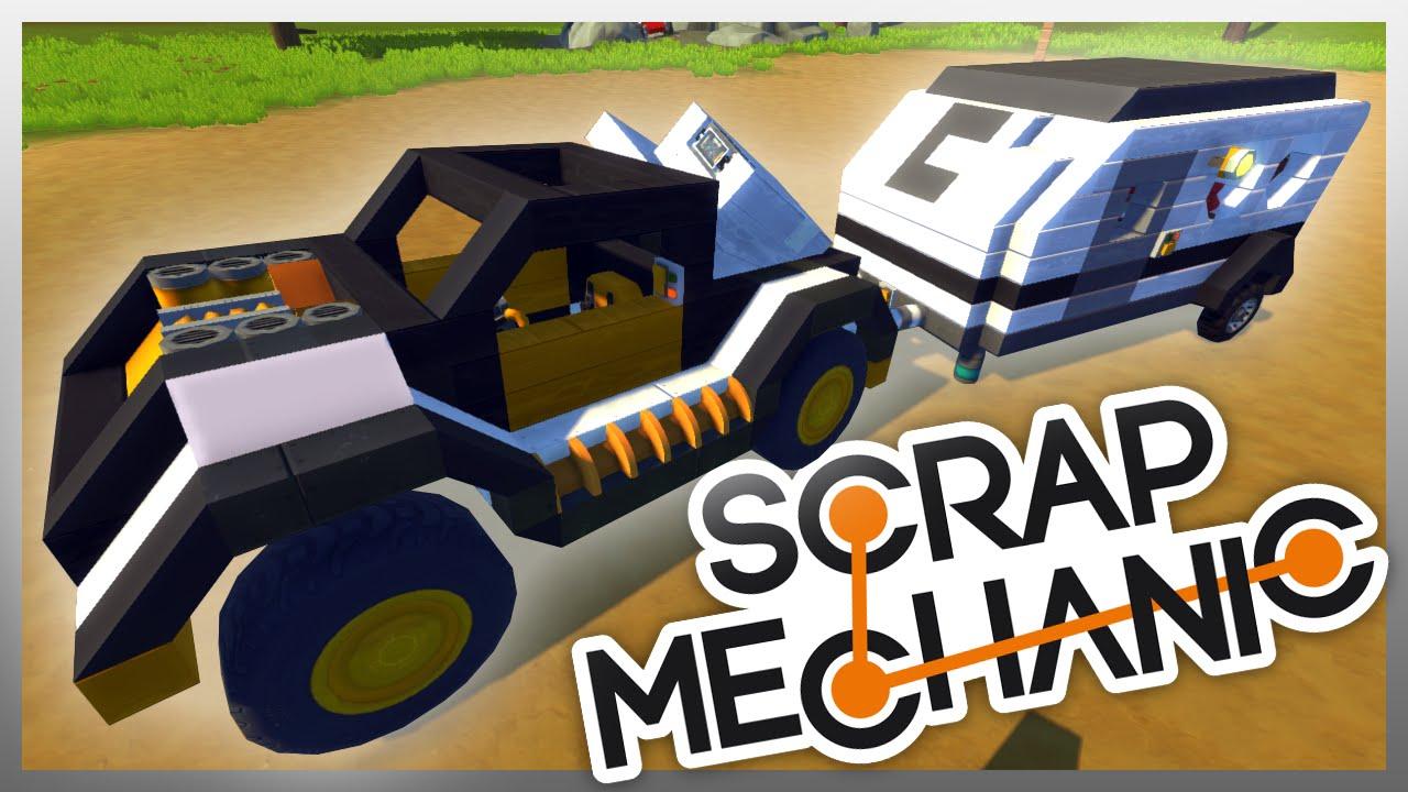 Как в scrap mechanic сделать машину простую
