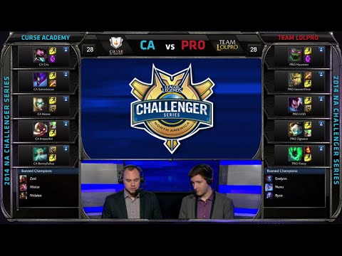 Curse Academy vs Team LoL Pro | Game 1 Semi Finals S4 NACS #2 Summer 2014 Playoffs | CA vs PRO G1