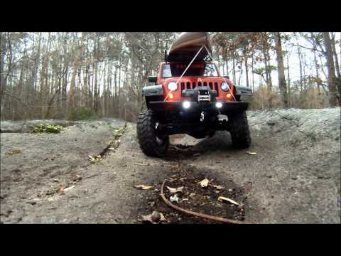 JeeP JK Wrangler Rubicon RC 1;10 Scale 4x4. Axial SCX-10 Chassis.