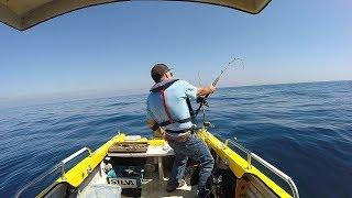 Man Fishing Alone in a Tiny Boat- Solo Shark Fishing Adventure - FULL DOCUMENTARY