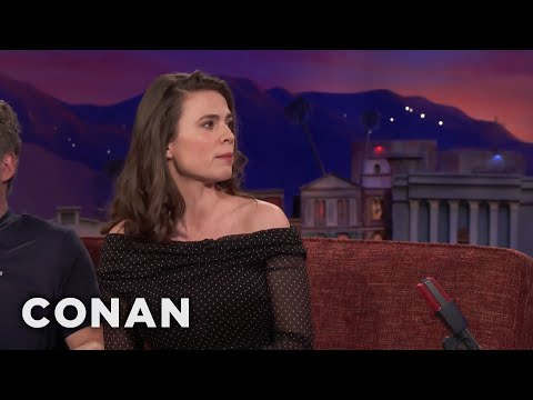 Hayley Atwell Compares Talk Show Appearances To Blind Dates  - CONAN on TBS
