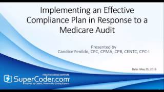 Implementing an Effective Compliance Plan in Response to a Medicare Audit