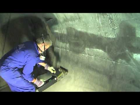 Railroad Tank Wagon With Interior And Exterior Rubber Lining To Be Stripped Youtube