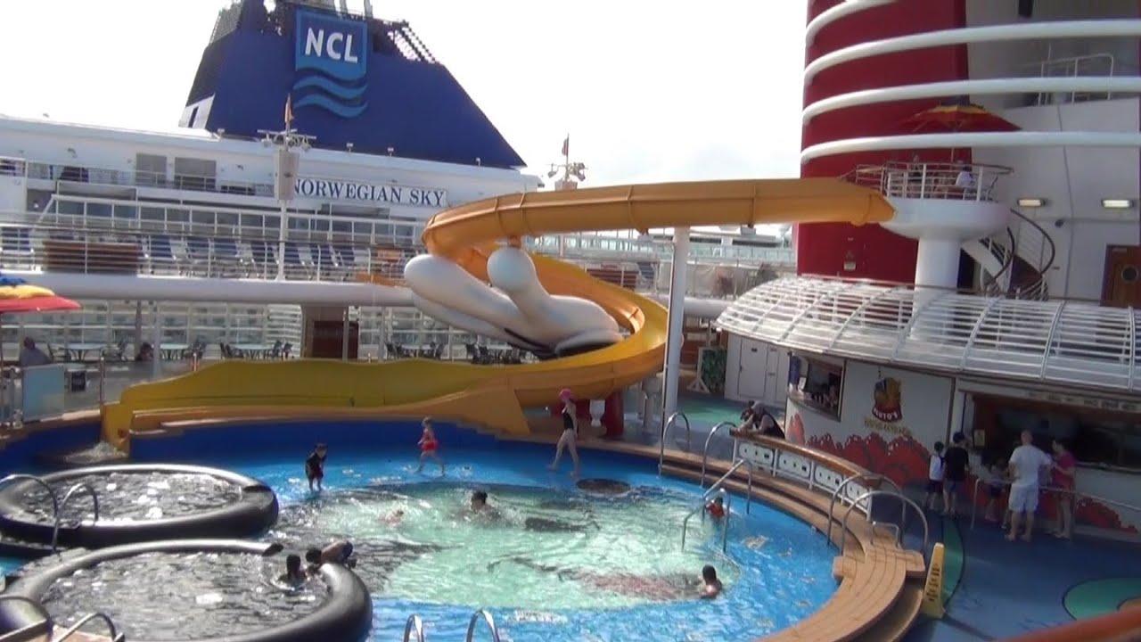 Disney Cruise Line Disney Wonder Cruise Ship Tour Deck