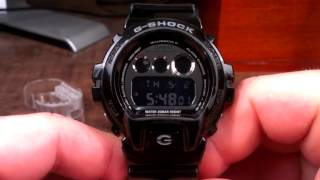 DW6900NB-1 Glossy Black and Chrome Casio G-Shock Watch Review