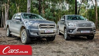 2016 Toyota Hilux vs Ford Ranger - Offroad & Review