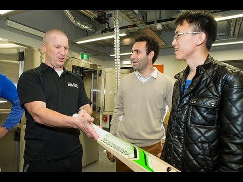Brad Haddin helps cricket bat researchers
