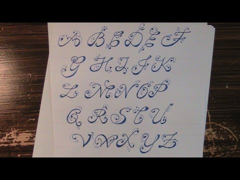 cursive fancy letters - how to write your cursive fancy ...