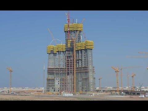 Kingdom Tower/Jeddah Tower- World's Tallest Building- 1Km+ Tower- 2016 UPDATE- برج جدة