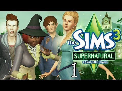 Let's Play The Sims 3 Supernatural - Ep. 1 - CAS & The Family!