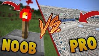 PRO VS NOOB : LA REDSTONE !   Minecraft