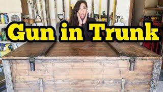 MILITARY GUN TRUNK I Bought Abandoned Storage Unit Locker Opening Mystery Boxes Storage Wars Auction