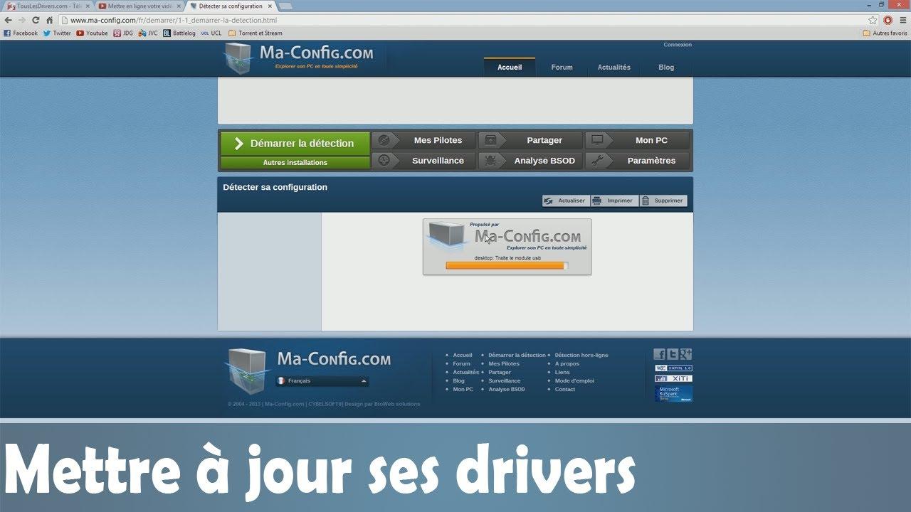 mettre jour ses drivers pilotes windows youtube