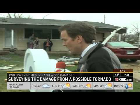 Hazelwood Tornado victim drops Holy Sh*t on live TV