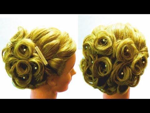 Свадебная прическа.Свадебная прическа на средние волосы.Wedding hairstyle  for medium hair