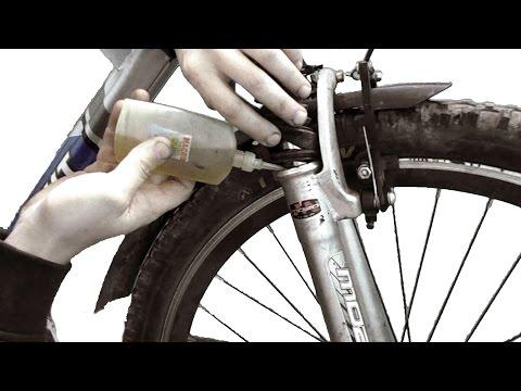 Смазка передней вилки велосипеда своими руками