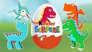 Opening Dinosaur Surprise Eggs | Kinder Surprise with Dinosaur | 2D | Animation cartoons for kids |