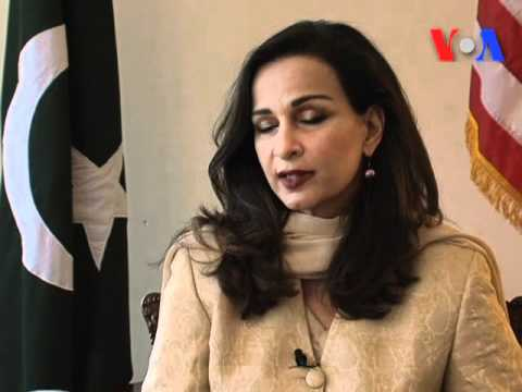 Sherry Rehman with Urdu VOA