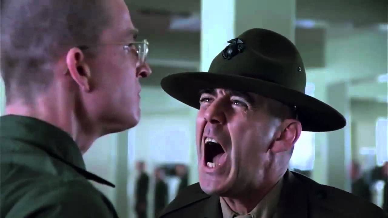 R Lee Ermey Yelling Full Metal Jacket Censored HD
