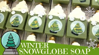 Making of White Christmas Snow Globe Cold Process Soap | ❄️ GYPSYFAE CREATIONS