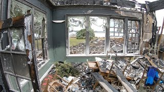 Sifting For Valuables Inside The Burnt Down Mansion - Found Coins, Phones, Rifle and More!