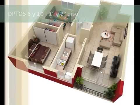Edificio CONSTRUCCIONES 12 - Planos 3D de todas las tipologías