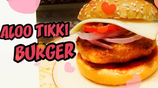 Mcd Aloo Tikki Burger l Home made Burger l Aloo Tikki l Easy recipe