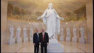 Two Apostles Lead a Virtual Tour of the Rome Italy Temple