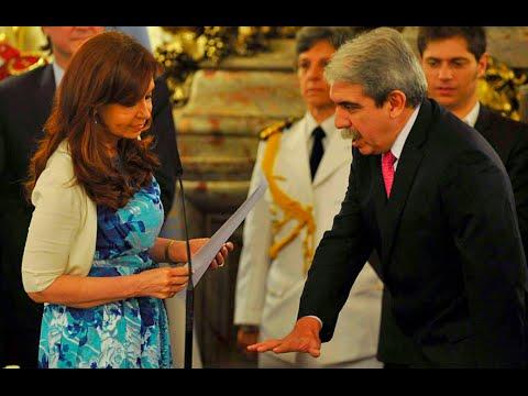 18 de DIC. Juramento a Aníbal Fernández como Secretario General de Presidencia. Cristina Fernández.