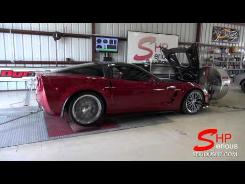 Corvette ZR1 Supercharged Stock Dyno Run