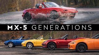 The Ultimate Mazda MX-5 Generations Review & Shoot-Out