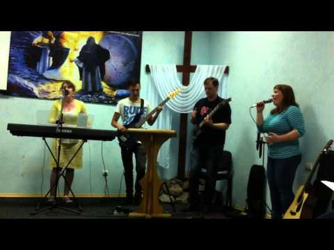 New Way Christian band singing in Novotroitsk There Is Hope Chutch
