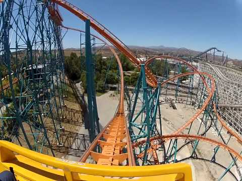 Goliath Magic Mountain Roller Coaster Go Pro May 19, 2013 - Head Cam #1