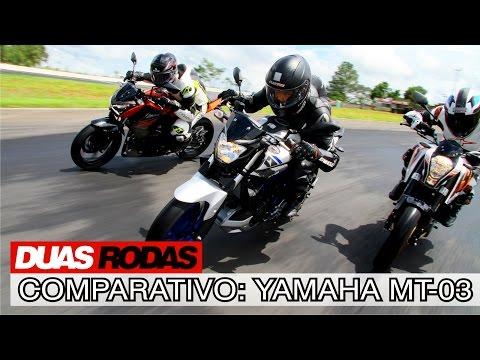 Comparativo: Yamaha MT-03 x Kawasaki Z300 x KTM 390 Duke