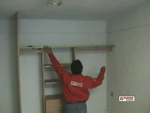 Como instalar un closet playcon parte 2 youtube for Como hacer una cajonera de madera paso a paso pdf