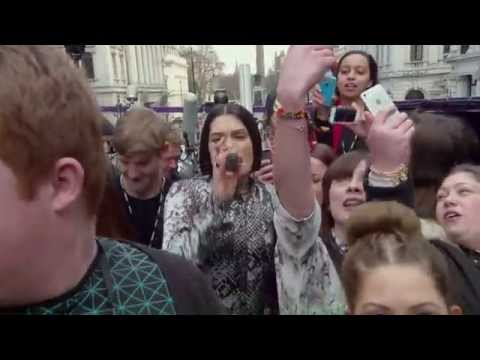 McDonald's surprise Londoners - Jessie J's lovin her open top bus gig