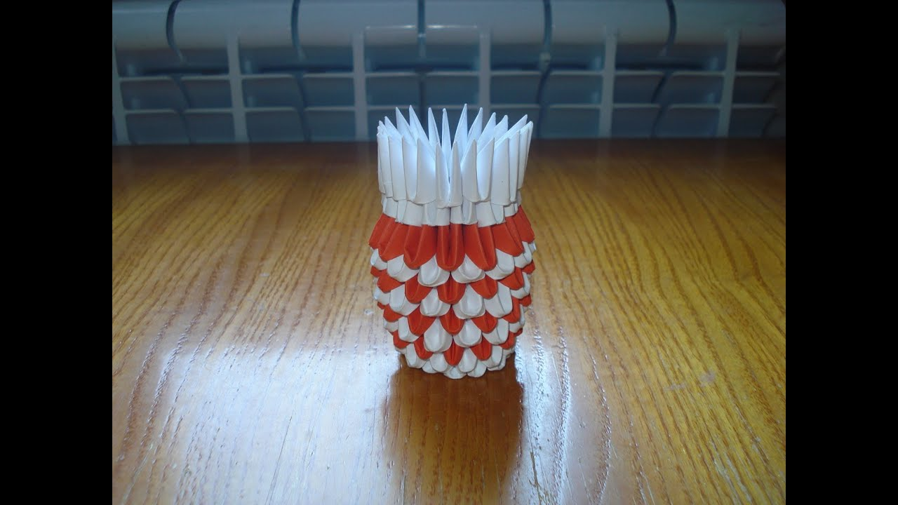 3d origami vase instructions