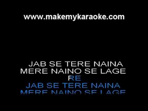 Jab Se Tere Naina - Saawariya - Shaan - Hindi Karaoke video