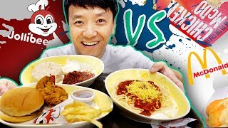 BEST Fast Food! JOLLIBEE vs. MCDONALD'S in The PHILIPPINES