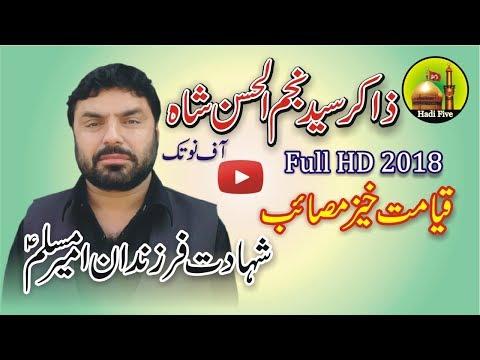 Zakir Najam Ul Hassan Notak Full HD Video 2018 - قیامت خیز مصائب -شہادت فرزندان امیر مسلم