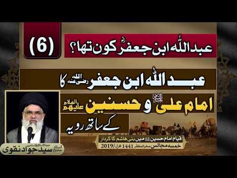 Abdullah Bin Jaffar ka Imam Ali wa Hasnain (as) k sath rawayyu | Agha Syed Jawad Naqvi