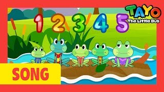 Tayo song Five Little Speckled Frogs l Nursery Rhymes l Tayo the Little Bus