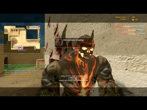 Counter Strike Source Zombie Riot online gameplay Dust 2 Dark Khan boss fights