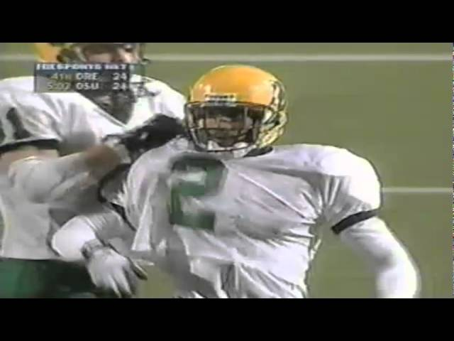 Oregon WR Tony Hartley 36 yard catch vs. Oregon State 11-21-1998
